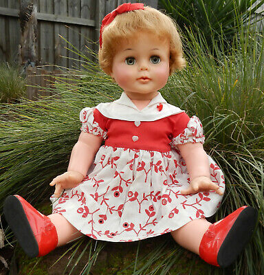"""Vintage 1960's Ideal KISSY 22"""" Doll - Redressed"""