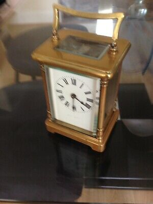 Lovely French Victorian Carriage Clock Cased In Need Of Repair