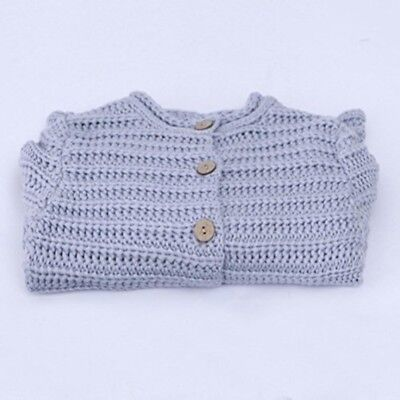 Baby Girls Coats Toddler Kids Outfit Clothes Button Warm Sweater Cardigan Top