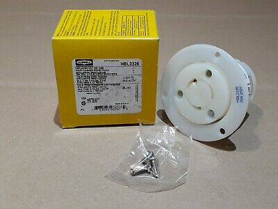 Hubbell HBL2326 Twist-Lock Flanged Receptacle 20A 250V