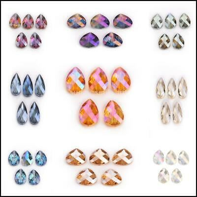 18mm Beads Glass Spacer  Crystal Teardrop Mixed Craft Wholesale 20pcs Loose