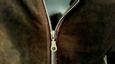 Vintage 70's Bagatelle Suede Real Leather Short Jacket.