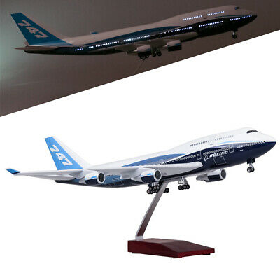 47cm B747 1:150 Airplane Model Plane Boeing 747 Aircraft Model With LED Stand