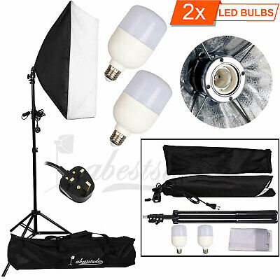 50W LED Continuous Lighting Softbox Photography Studio Soft Box Light Stand Kit