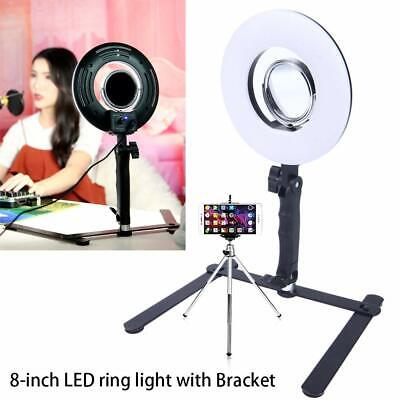 "8"" Studio LED Ring Light Dimmable Lamp YouTube Video Make-up Selfie Camera Phone"