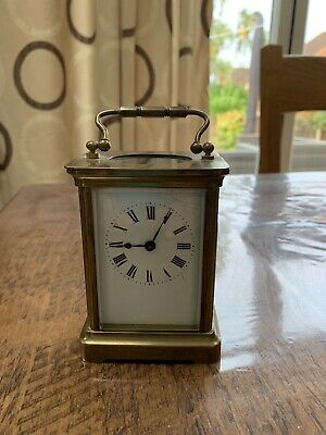 Antique French 8 Day Bayard Carriage Clock circa 1900. Fully Working