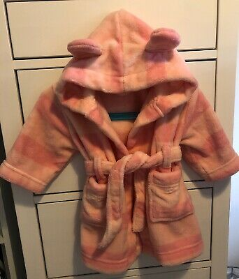 Baby Girls John Lewis Dressing Gown 3-6 Months. Worn Once