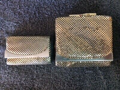 Glomesh Vintage Gold Purse Ladies and Key Purse matching set Made in Australia