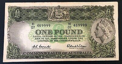 1961 Australia Coombs/Wilson $1 One Pound banknote