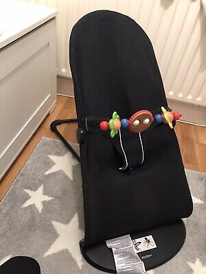 Baby Bjorn Baby Bouncer with Googly Eyes Toy Bar and towelling cover