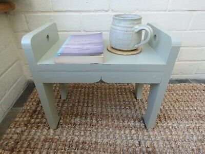 Small foot stool or display stand with curved detail, French Gray