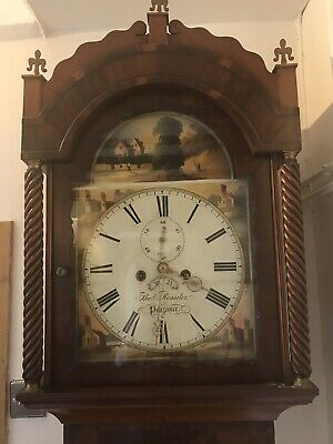 Luxury English 8 Day Walnut Grandfather Longcase Clock