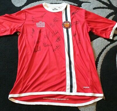 FC United Of Manchester Signed Admiral Shirt - Size Medium