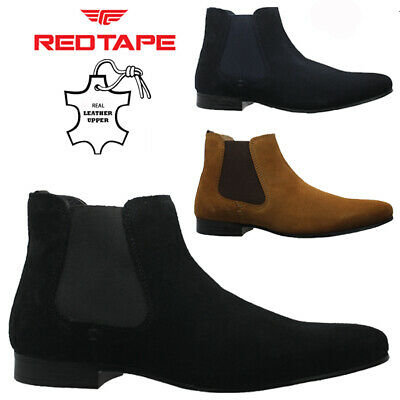 Mens Red Tape Leather Chelsea Boots Ankle Dealer Formal Smart Wedding Shoes Size