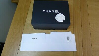 Genuine Chanel shoes/gift magnetic flap box,Camellia, booklet, tissue paper (6)