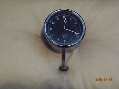 Vintage Smiths car clock, 1930s, 8-day wind-up, working well.