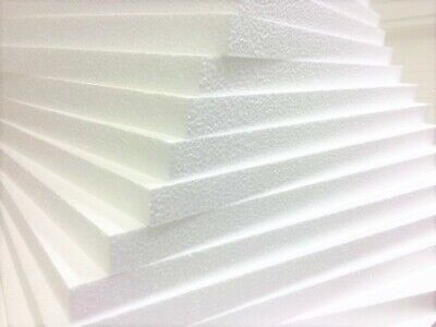 White POLYSTYRENE FOAM SHEETS Any Size's/Qty's Expanded Packing Insulation Poly