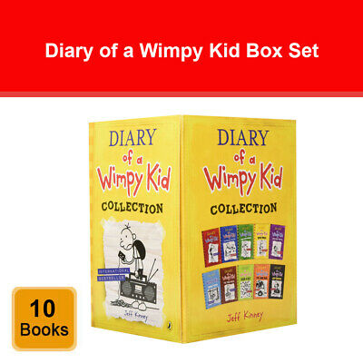Diary of a Wimpy Kid 10 Books Box Set Collection by Jeff Kinney Blue Old School