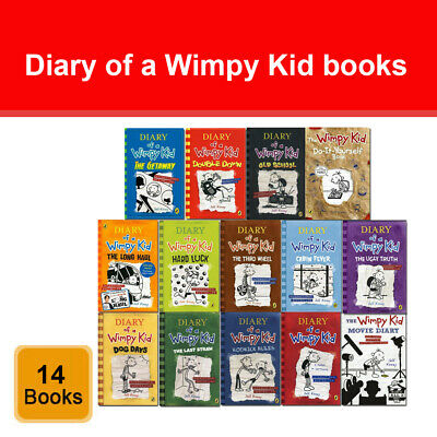 Diary of a Wimpy Kid 14 Books Set by Jeff Kinney do-it-yourself, Movie Diary NEW