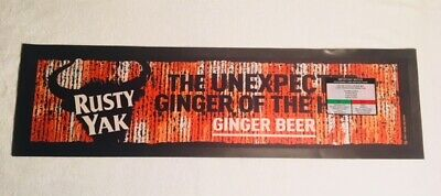 Bar Mat Runner NEW Rusty Yak Ginger Beer Rubber Quality Pub Mancave