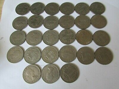 Bulk Lot Of 26   Old British Half Crowns     Uk Delivery Only