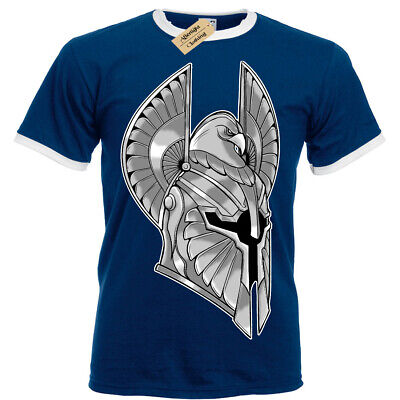 Full Armor T-Shirt spartan helmet warrior knight Mens RInger