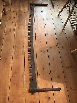 ANTIQUE LARGE  Wood SAW Very old Lovely Unusual Items ####