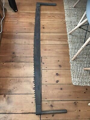 ANTIQUE LARGE  Wood SAW Very old Lovely Unusual Items #### 58 Inches Long