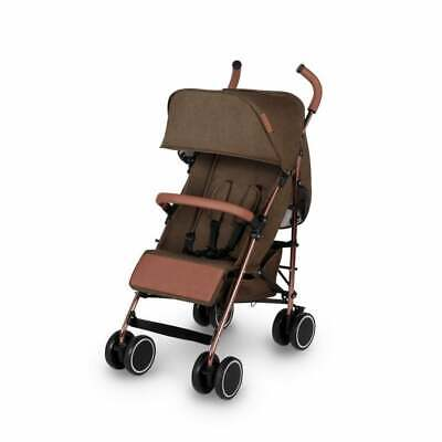 Ickle Bubba Discovery Pushchair - Khaki On Rose Gold