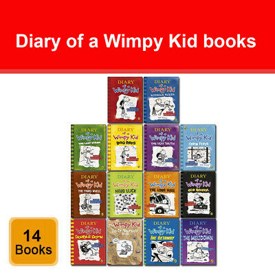 Diary of a Wimpy Kid 14 Books Collection Set by Jeff Kinney The Meltdown NEW