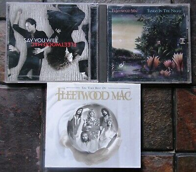 Fleetwood Mac CD's Lot of 3 ~ The Very Best of, Say You Will, Tango in the Night