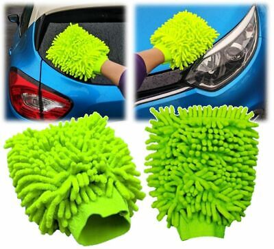 Microfibre Car Wash Mitt Hand Cleaning Duster Glove Glass Polish Cleaner Cloth