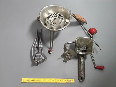 Antique Utensils Cooking Vintage Mouli Julienne Press Garlic