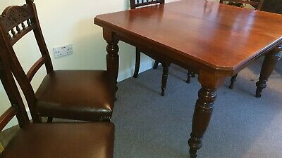 Antique Extending mahogany Dining Kitchen table Victorian Wind Out Circa 1880's