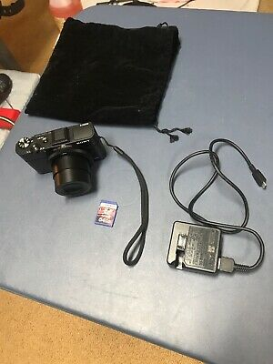 Sony DSC-RX100 Cyber-shot 20.2MP Digital Camera - Black - WITH 64 Gig Micro Sd
