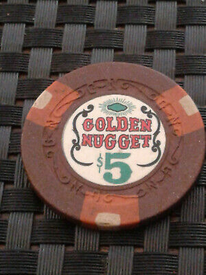 Golden Nugget 5.00 Chip Vintage Las Vegas