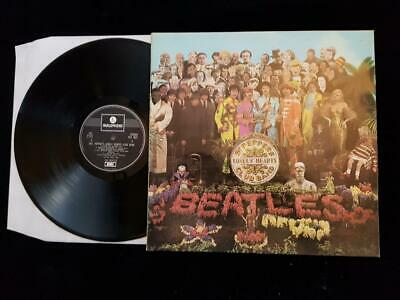 THE BEATLES Sgt Peppers LP UK 1 Box Parlophone Stereo '67 PCS-7027  -1/-2 EX+