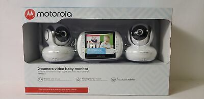 "Motorola 3.5"" Color Screen 2-Camera Video Baby Monitor - MBP36S-2"