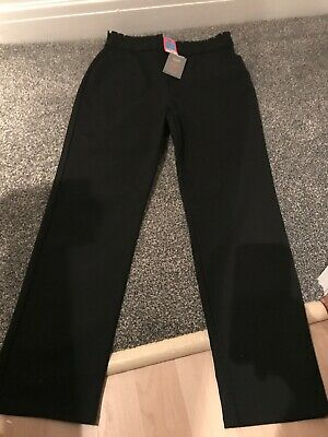 Girls Black Skinny Leg School Trousers Age  14-15 Years