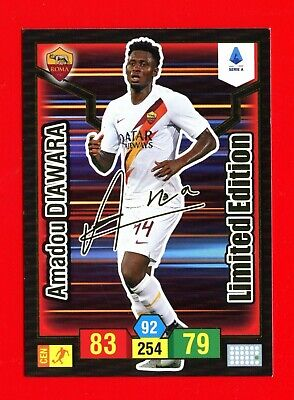 CALCIATORI 2019-2020 20-Adrenalyn Panini Card LIMITED EDITION - DIAWARA -FIRMA