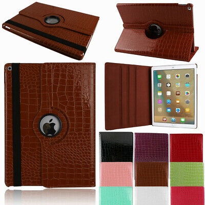 For Apple iPad 10.2 7th Gen Case Rotating Flip Soft Leather Smart Stand Cover