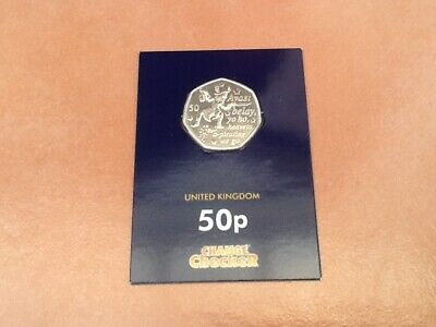 "Rare Change Checker Isle Of Man 50 Pence Coin Peter Pan ""Captain Hook"", 2019"