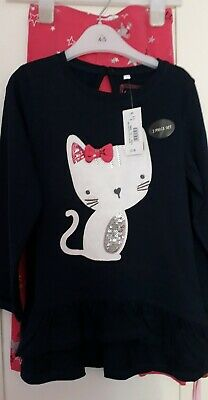 girls leggings cat outfit 4-5 years, bluezoo bnwt christmas gift