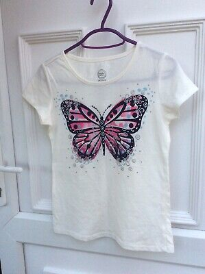 Wonder Nation Girls Butterfly Print T-Shirt Age 10-12 Years