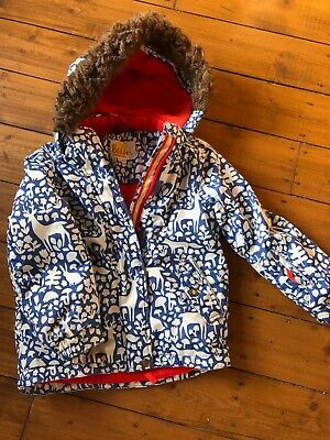 Mini Boden Kids Ski Jacket,  Age 7- 8, Girls Winter Coat, great details