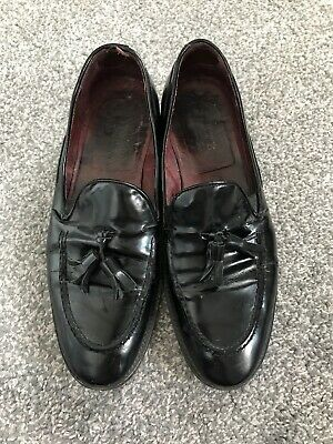 Mens Poste Shoes Size 8 Black Patent Smart Party Wedding Loafer