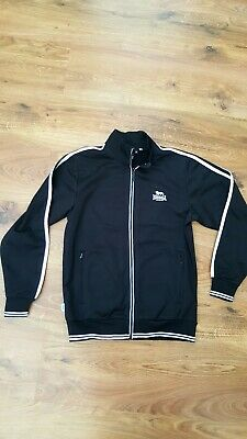 Girls/Boys Black Lonsdale Tracksuit Top Age 11-12