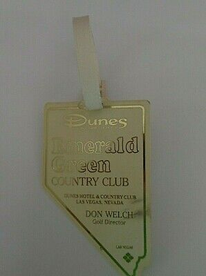 Vintage Dunes Hotel Emerald Green Country Club Golf Tag