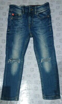 Distressed Ripped Knee skinny Jeans Next Size 4 Years