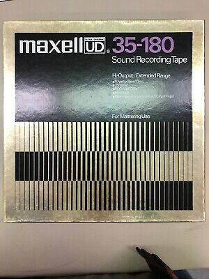 "Maxell UD 35-180 Sound Recording Tape 10.5"" Reel Metal Mastering Gold"